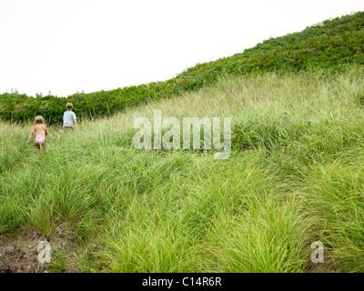 Geschwister Kopf vom Strand in südlichem maine - Stockfoto