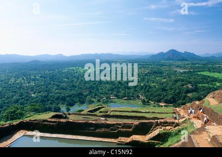 Sigiriya oder Lion es Rock Rock Festung, Sri Lanka, Südasien - Stockfoto