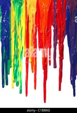 Verschiedene Farben der Farbe tropft - Stockfoto
