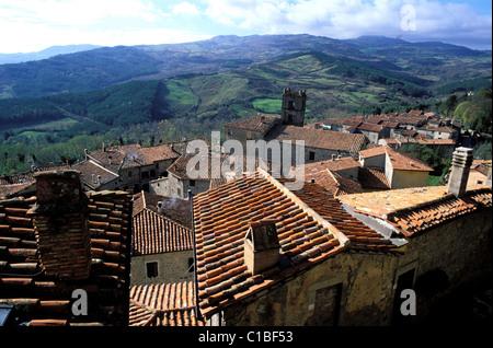 Italien, Toskana, das Dorf Santa Fiora in der Nähe von Monte Amiata - Stockfoto