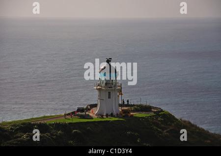 Cape Reinga Leuchtturm, Cape Reinga, Northland Region, Nordinsel, Neuseeland - Stockfoto