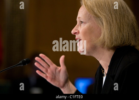 Mary Schapiro, Vorsitzende der Securities And Exchange Commission (SEC) - Stockfoto