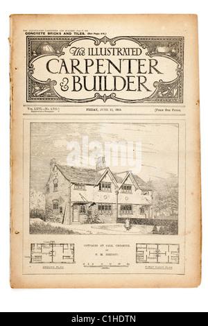 Alte Vintage Zeitschrift Illustrated Zimmermann und Baumeister June17 1910 datiert. EDITORIAL NUR - Stockfoto