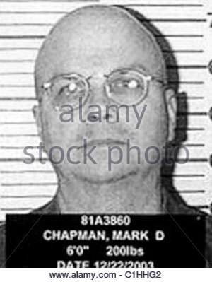 Mark David Chapman Mugshot - Stockfoto