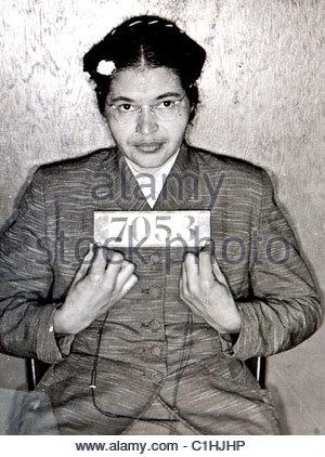 Rosa Parks Mugshot - Stockfoto