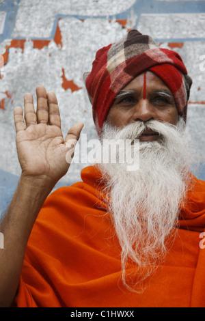 IND, Indien, 20110310, Mann, der Pilgerweg - Stockfoto
