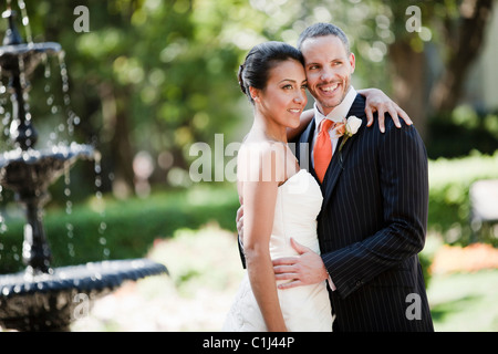 Braut und Bräutigam, Toronto, Ontario, Kanada - Stockfoto