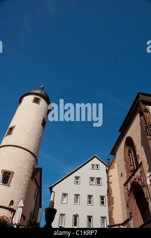 Deutschland, Franken, Wertheim. Typischen mittelalterlichen Turm. - Stockfoto