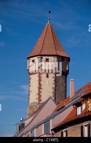 Deutschland, Franken, Wertheim. Spitizer, mittelalterliche Wachturm. - Stockfoto