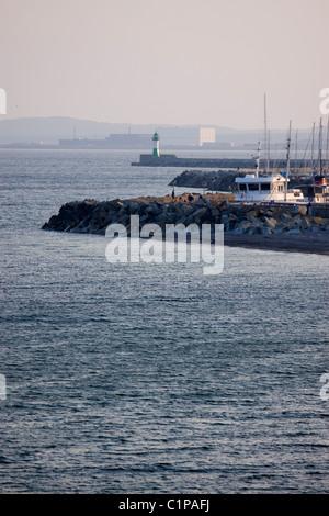 Deutschland, Rügen, Sassnitz, Angelboote/Fischerboote im Hafen - Stockfoto