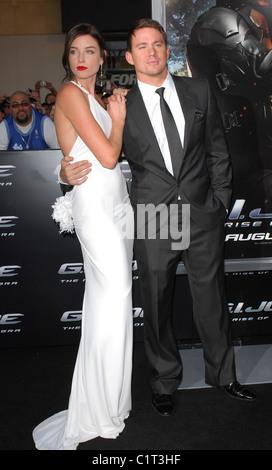 """Rachel Nichols und Channing Tatum Los Angeles Screening von """"G.I.JOE:The Rise of Cobra"""" statt auf der Graumans Chinese - Stockfoto"""