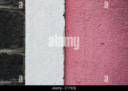Bemalte Wand, close-up - Stockfoto