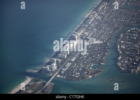 Strand Hotels Miami Florida coastal Tourist Atlantik Küste - Stockfoto
