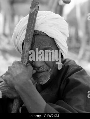 Kamel Trader, Kamelmarkt, Daraw, Oberägypten - Stockfoto