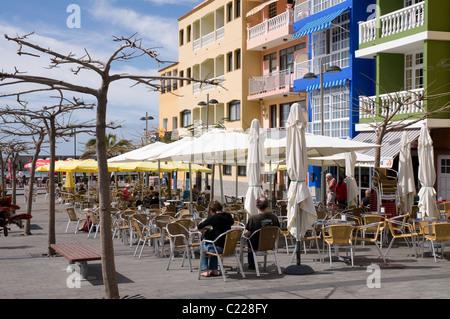 Straße Cafe in Puerto de Tazacorte-La Palma-Kanaren - Stockfoto