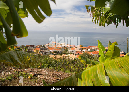 Das Dorf Jardim Do Mar auf der Insel Madeira Stockfoto