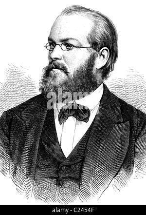 Franz August Freiherr Schenk von Stauffenberg, 1834-1901, deutscher Rechtsanwalt und Politiker, historische Illustration, - Stockfoto