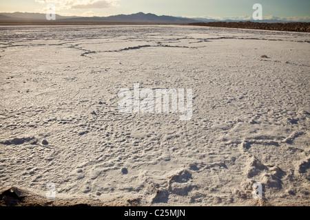 Bristol-See ein Felder von Kalzium-Chlorid außerhalb von Amboy, CA