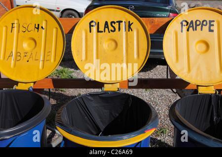 Mülltrennung; Mülltrennung in Deutschland - Stockfoto