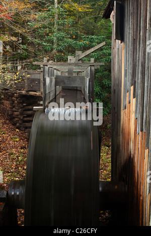 John Kabel Grist Mill in der Great Smoky Mountain National Park. - Stockfoto