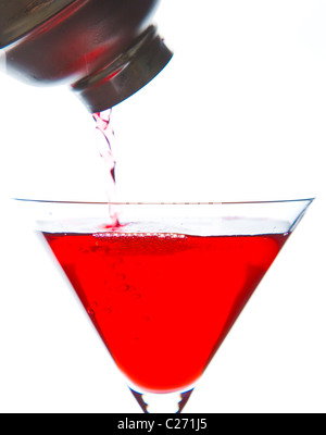 rote getr nk in ein glas mit stroh f r cocktails stockfoto bild 82855597 alamy. Black Bedroom Furniture Sets. Home Design Ideas
