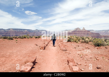Menschen wandern im Grand Canyon National Park, Arizona, USA - Stockfoto