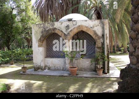 Eine arabische Torheit Gebäude in den Botanischen Garten Palermo Sizilien Italien - Stockfoto