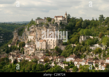 Rocamadour im Département Lot des südwestlichen Frankreich. - Stockfoto