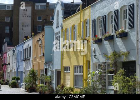 Mews Häuser, Chelsea, London. - Stockfoto
