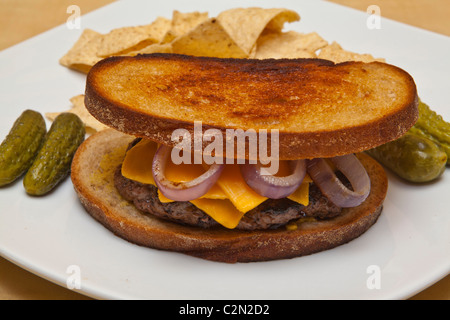 Patty Melt sandwich - Stockfoto