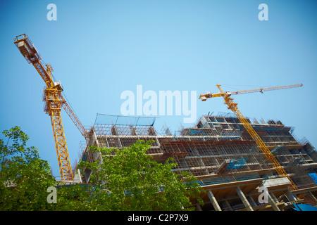 Indien, Hyderabad, Entwicklung, Wachstum, Business, Farben, Farbe, lebendige, Straße, neue, alte, Holi, Finanzen, - Stockfoto