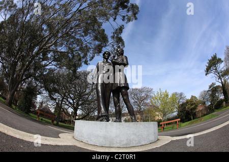 Co Grafschaft Kerry, Bronze-Skulptur Statue zeigen die internationalen rose von Tralee-Wettbewerb - Stockfoto