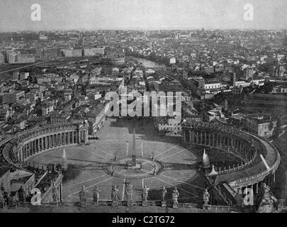 Frühe Autotype von Rom, Geschichtsbild, 1884 - Stockfoto