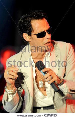 Marc Anthony führt am Festival Latino Americano Mailand, Italien - 01.07.08 ** ** Brengola Diena / - Stockfoto