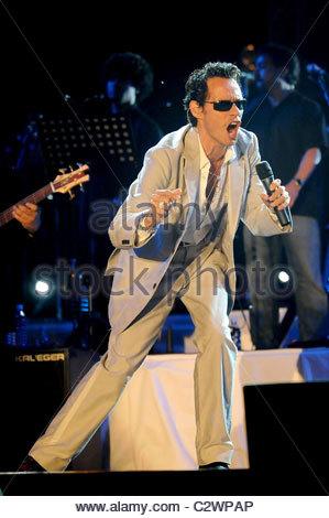 Marc Anthony führt am Festival Latino Americano Mailand, Italien - 01.07.08 ** nicht verfügbar für die Veröffentlichung - Stockfoto