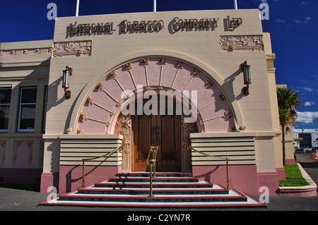 Nationalen Tabak Firma Art Deco Gebäude, Napier, Hawkes Bay, North Island, Neuseeland - Stockfoto