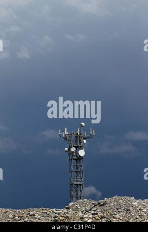 Antennenstruktur in der Nähe von turin - Stockfoto