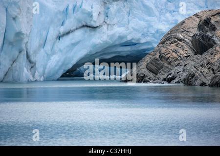 Blick auf Gletscher Perito Moreno, El Calafate, Patagonien, Argentinien, Südamerika. - Stockfoto