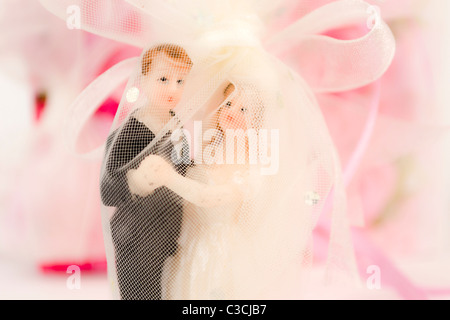 Dekorative Hochzeit Puppen, Nahaufnahme - Stockfoto