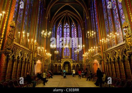 Europa, Frankreich, Paris (75), Sainte-Chapelle-Kirche, Unterkapelle - Stockfoto