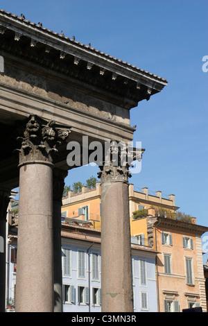 Rom - Spalten des Pantheons - Stockfoto