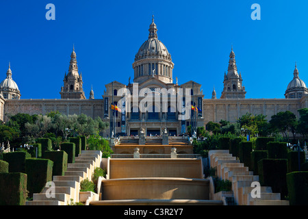 Spanien, Katalonien, Barcelona, Montjuic, Katalonien Nationalmuseum für Kunst (MNAC), Nationalpalast (Palau Nacional) - Stockfoto