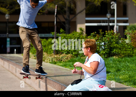 Skateboarding in Washington, D.C. - Stockfoto