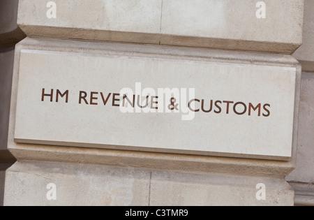 HM Revenue & Customs anmelden, Whitehall, London, England, UK - Stockfoto
