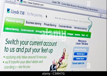 Nahaufnahme von der Lloyds TSB-Logo auf ihrer Website gesehen. (Nur zur redaktionellen Verwendung: print, TV, e - Stockfoto