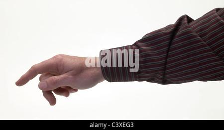 Mann Hand zeigen - Stockfoto