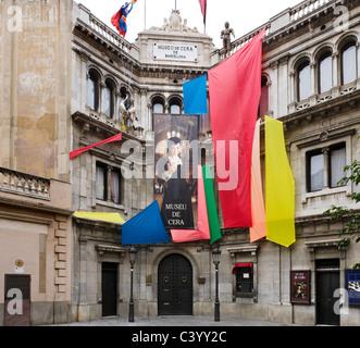Waxwork-Museum (Museu de Cera) in der historischen Altstadt, Barcelona, Katalonien, Spanien - Stockfoto