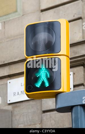 Zu Fuß Licht, Spanien - Stockfoto