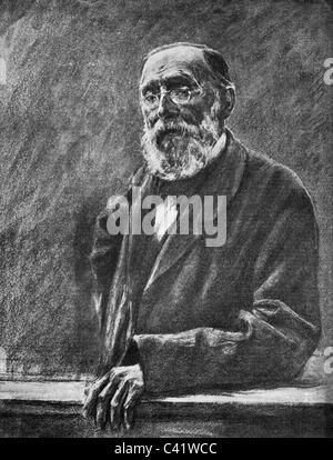 Virchow, Rudolf, 13.10.181 - 5.9.1902, deutscher Arzt und Politiker, halbe Länge, Zeichnung von Max Liebermann, - Stockfoto