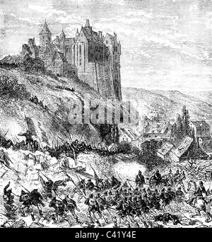 Ereignisse, Deutsch-Französischer Krieg 1870 - 1871, Schlacht bei Chateaudun, 18.10.1870, Angriff auf die deutsche - Stockfoto